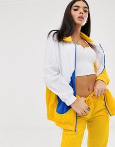 Желтая спортивная oversize-куртка с галочкой Nike-Желтый