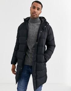 Удлиненная дутая куртка Brave Soul-Черный