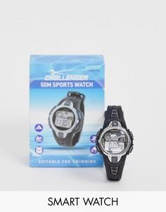 Мужские черные часы Challenger fitness-Черный
