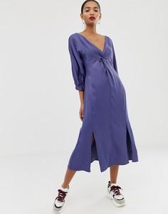 Платье миди ASOS WHITE-Мульти