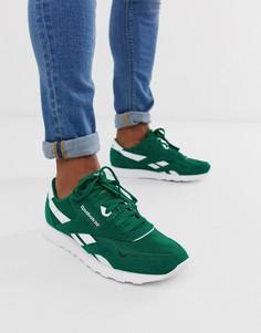 Зеленые классические кроссовки Reebok-Зеленый