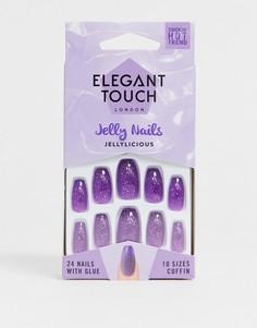 Накладные ногти Elegant Touch - Jellyliscious-Фиолетовый