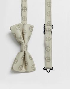 Сатиновый галстук-бабочка с принтом Religion wedding-Золотой