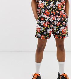 Комбинируемые шорты с цветочным принтом в винтажном стиле Milk It-Черный