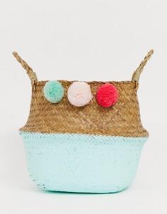 Складные пляжные сумки-корзины с помпонами South Beach-Мульти