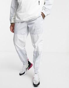 Белые джоггеры с манжетами Nike-Белый