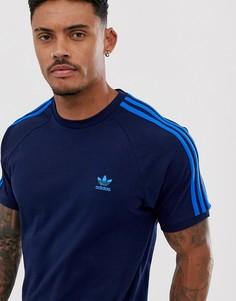 Футболка с 3 полосами adidas Originals-Синий