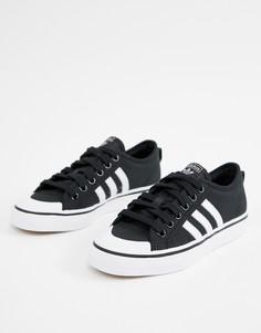 Черно-белые кроссовки adidas Originals-Черный