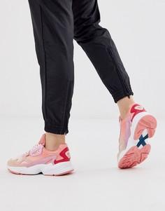 Кораллово-розовые кроссовки adidas Originals Falcon-Розовый