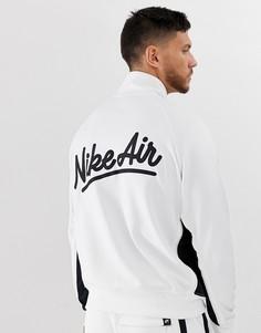 Белая спортивная куртка с логотипом Nike-Белый