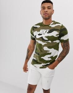 Футболка с логотипом Nike-Зеленый