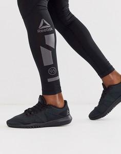 Черные кроссовки Reebok Training flexagon-Черный