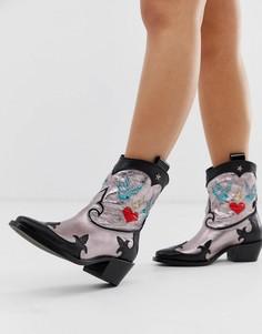 Розовые ботинки в стиле вестерн Buffalo London Garcia-Розовый