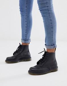 Ботинки с 6 парами люверсов Dr Martens 101-Черный