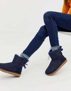 Ботинки с бантиком UGG mini baliey-Темно-синий
