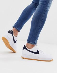 Темно-синие кроссовки на резиновой подошве с логотипом Nike Air Force 1-Темно-синий