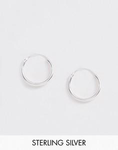 Серебряные серьги-кольца 12 мм ASOS DESIGN-Серебряный