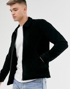 Вельветовая куртка на молнии Another Influence-Черный
