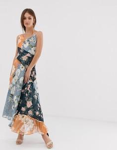 Платье макси в стиле пэчворк We Are Kindred Janie-Мульти