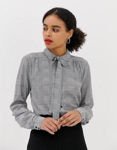 Клетчатая блузка с бантиком Minimum-Мульти