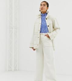 Бежевые брюки в стиле милитари Monki-Бежевый