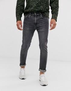Супероблегающие выбеленные джинсы с заниженной талией Levis 519 albany advance-Синий