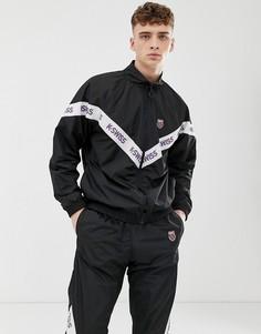 Черная спортивная куртка с кантом K-Swiss-Черный