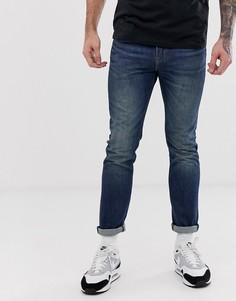 Темные выбеленные джинсы скинни с классической талией Levis 510 - megamouth warp cool-Синий