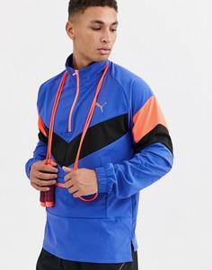 Синяя складывающаяся куртка Puma Training reactive-Синий