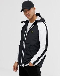 Черно-белая куртка колор блок с рукавами реглан Lyle & Scott-Черный