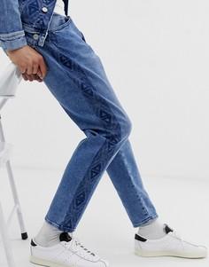Узкие джинсы с принтом Jack & Jones Originals-Синий