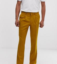 Узкие строгие брюки горчичного цвета Heart & Dagger-Желтый
