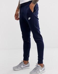 Темно-синие спортивные брюки из флиса Nike Tech-Темно-синий
