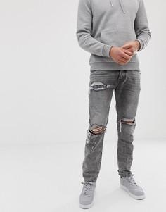 Серые узкие джинсы в стиле 90-х Diesel Mharky 089AT-Серый