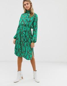 Платье миди с принтом Moves By Minimum-Мульти