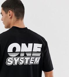 Черная футболка с принтом COLLUSION-Черный