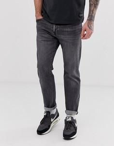 Черные суженные книзу выбеленные джинсы классического кроя Levis 502 - gobbler advance-Черный
