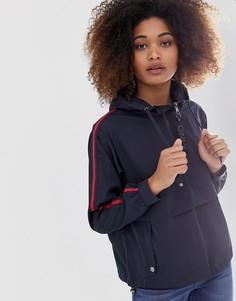 Куртка-анорак с полосками в спортивном стиле Only-Темно-синий