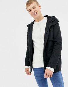 Дутая премиум-куртка с 4 карманами Brave Soul-Черный
