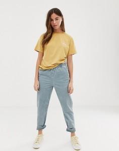 Голубые вельветовые брюки Quiksilver-Синий