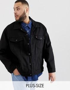 Черная джинсовая куртка Levis Big & Tall-Черный