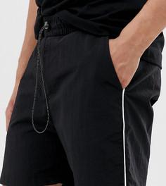 Нейлоновые шорты с окантовкой COLLUSION-Черный
