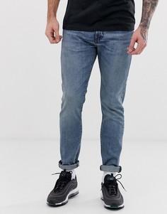 Облегающие выбеленные суженные книзу джинсы Levis 512 - coho creek-Синий