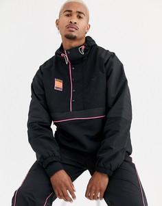 Черная куртка на молнии с капюшоном adidas Originals-Черный
