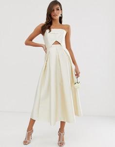 Структурированное свадебное платье-бандо ASOS EDITION-Красный