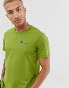 Зеленая футболка с небольшим логотипом Champion-Зеленый