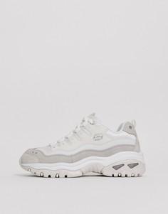 Белые кроссовки с оригинальным дизайном Skechers Energy-Белый