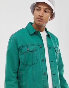 Зеленая oversize-куртка ASOS DESIGN-Зеленый