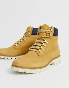 Коричневые кожаные походные ботинки Caterpillar - lexicon-Коричневый