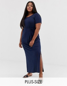 Платье-футболка макси Junarose-Темно-синий